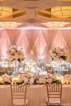 This showstopper wedding reception head table in the four seasons 35 sweet blush and white wedding centerpiece decoration beauty of wedding junglespirit Gallery