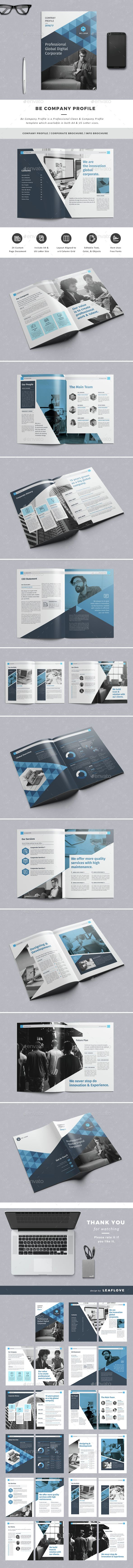 Be Company Profile Template InDesign INDD. Download here: http ...