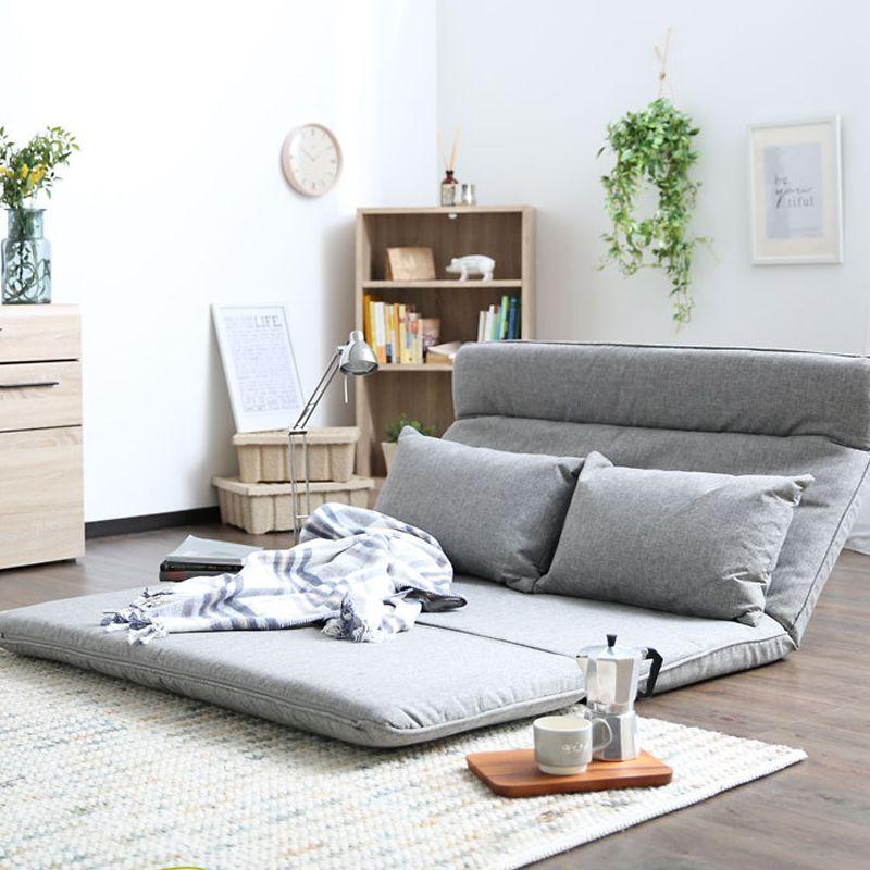 Living Room Futon Chair Sofa Bed Furniture Japanese Floor Legless Modern Fashion Leisure Fabric Reclining Futo Futon Living Room Sofa Bed Furniture Floor Couch