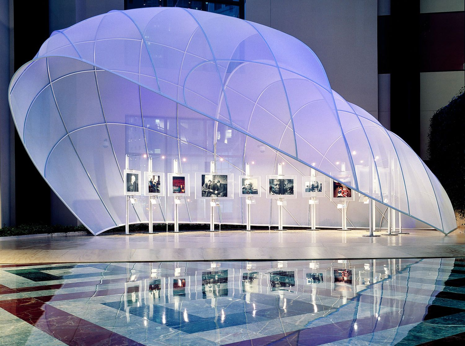 Fabric Exhibition Stand : Moss events premier kiosk design event staging and