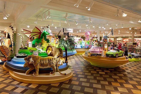 Harrods Toy Kingdom London   U201cThe Wonderland,u201d Where An Imposing,  Multicolored Landscape