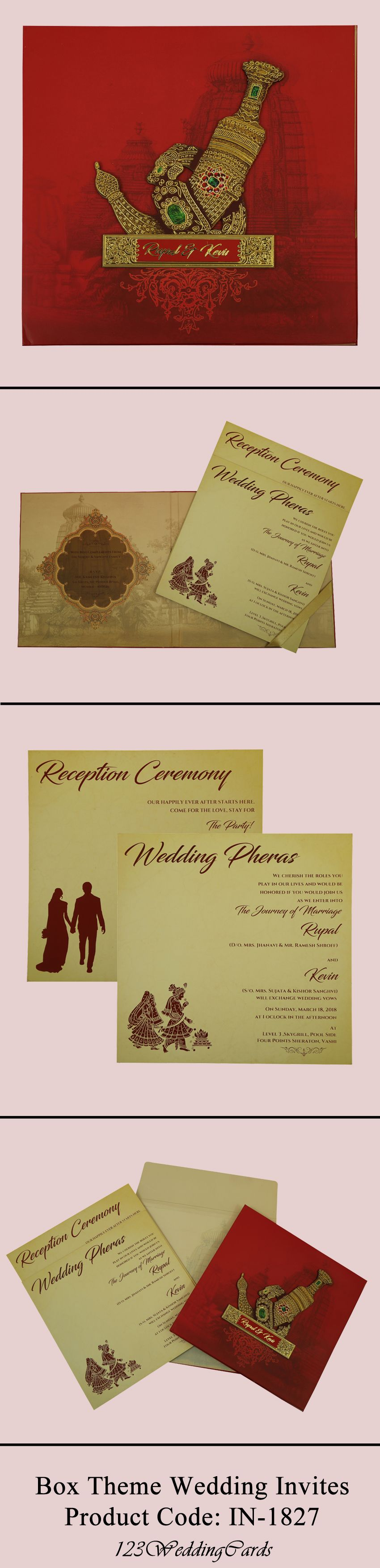 Matte Paper Box Theme Wedding Invitation Made With Offset Printing Method From 123weddi Box Wedding Invitations Unique Wedding Cards Indian Wedding Invitations