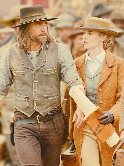 "Cullen and Lily in ""Hell on Wheels""."