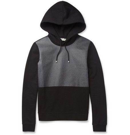 Balenciaga Coated-Panel Fleece-Back Cotton-Jersey Hoodie   MR PORTER ... ae2d4c9f6d5