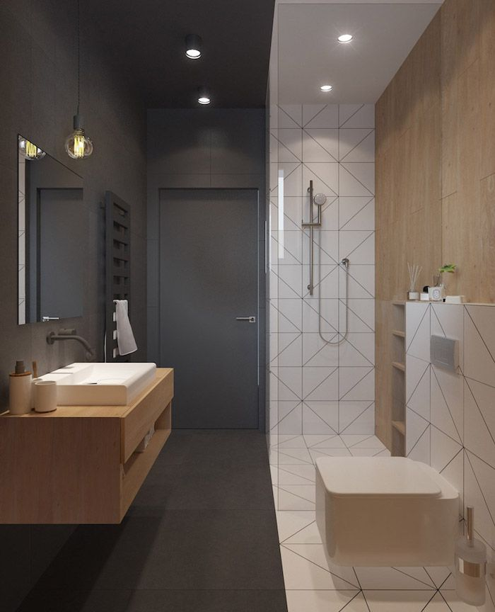 Salle de bain beige et gris \u2013 pierre deviendra sable Salle de bain