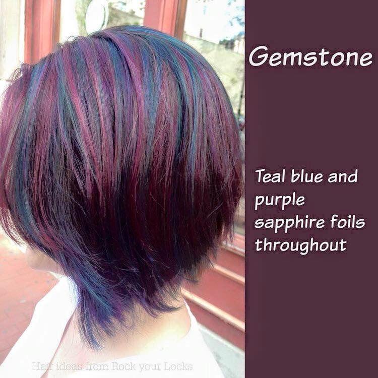 Gemstone hair color