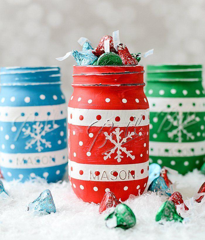 Mason Jar Christmas Craft Ideas Part - 33: Christmas Sweater Mason Jars