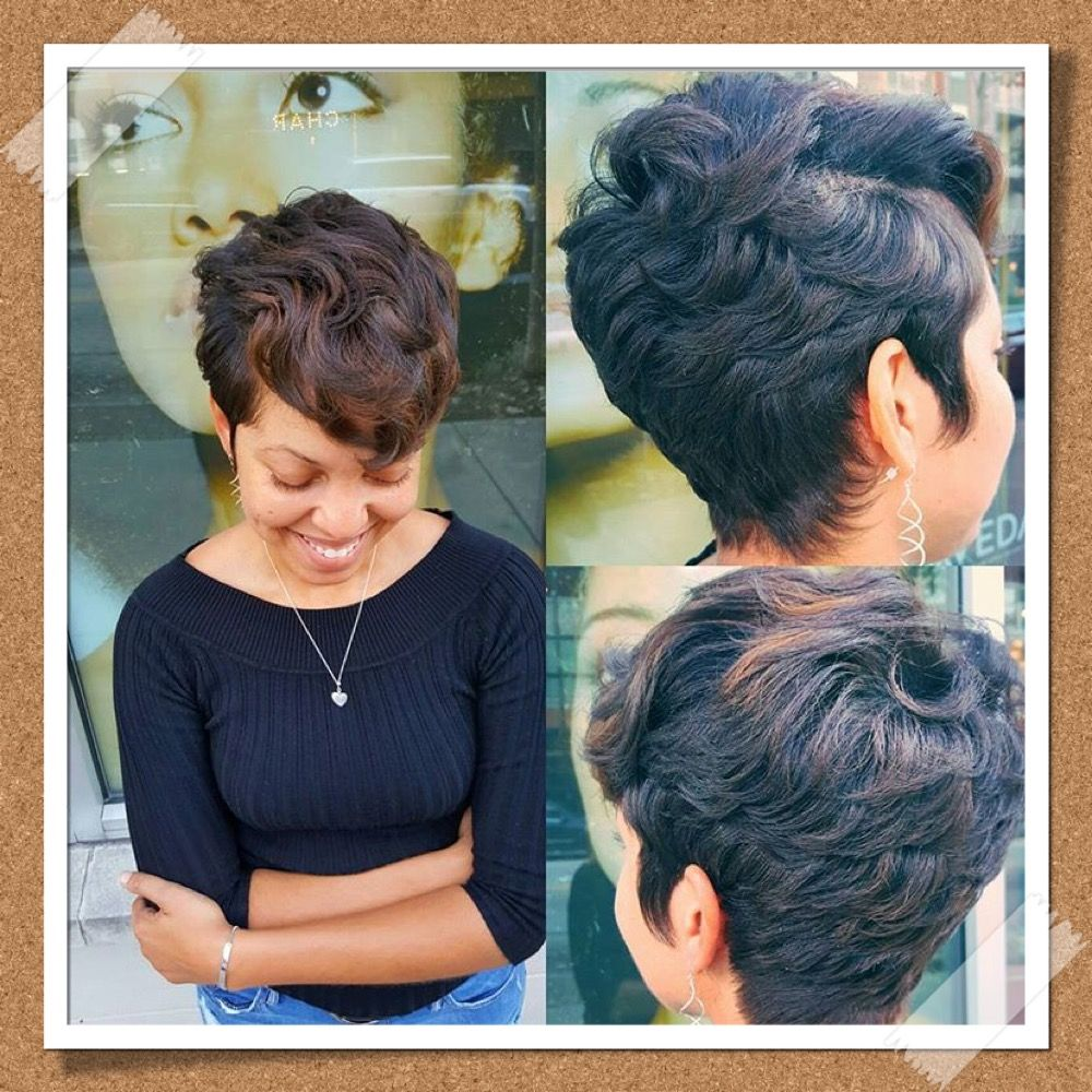 Pin By Ashley Dudley On Short N Sweet Short Black Hairstyles Natural Hair Styles Hair Beauty