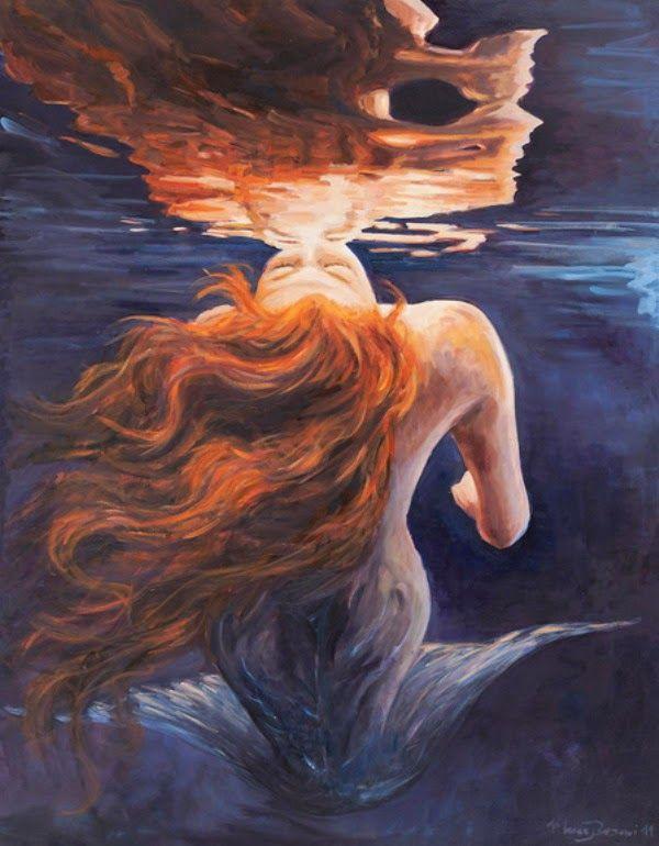 sirenas-bonitas-pinturas-realistas-al-oleo | Pictures | Pinterest ...