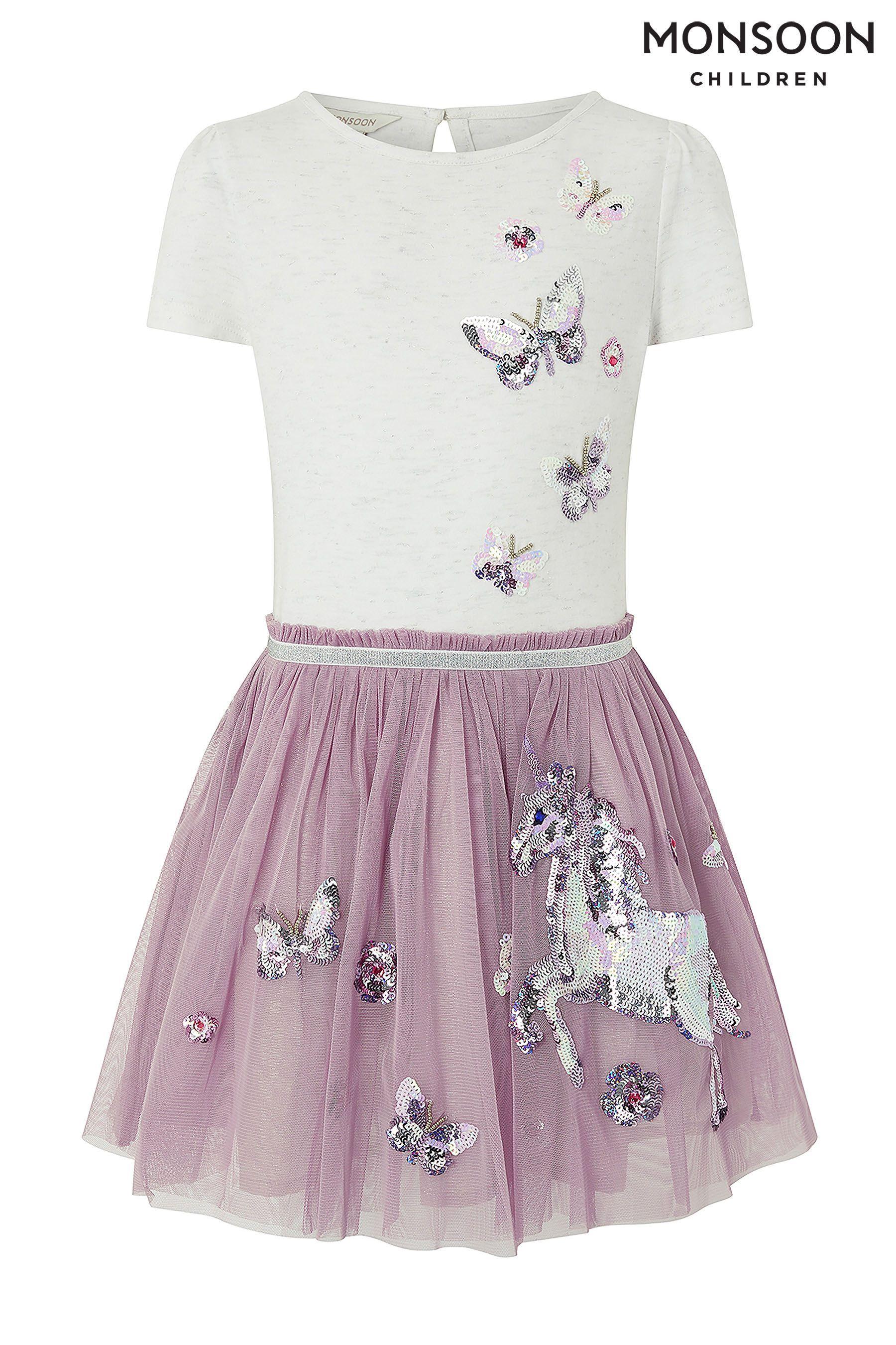 9134530edcd9 Girls Monsoon Disco Unicorn Dress - Purple   Products   Unicorn ...