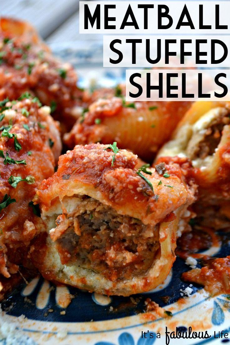 Easy Dinner Idea Meatball Stuffed Shells - Itu0027s A Fabulous Life & Easy Dinner Idea: Meatball Stuffed Shells - Itu0027s A Fabulous Life ...