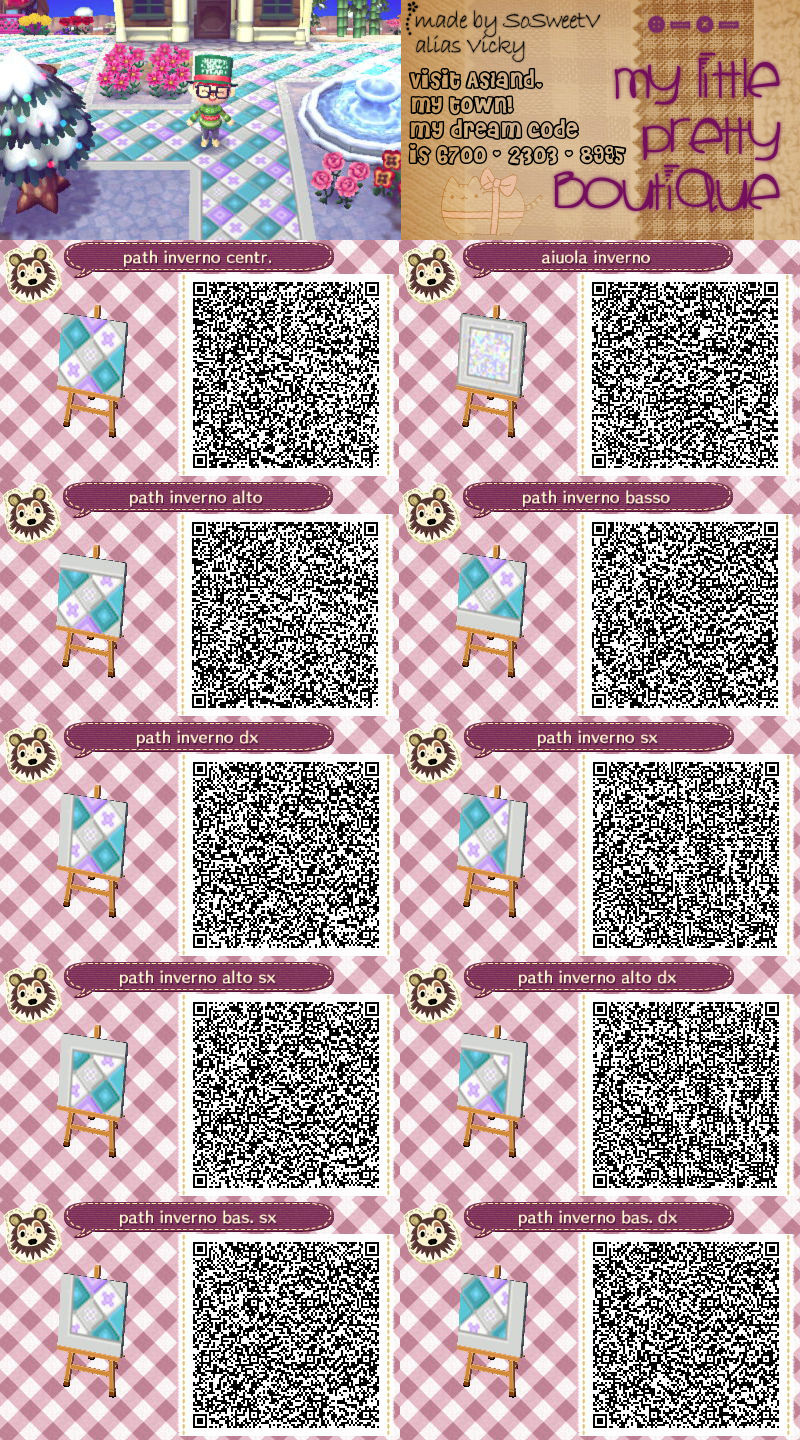 Animal Crossing New Leaf Qr Code Path Animal Crossing Qr