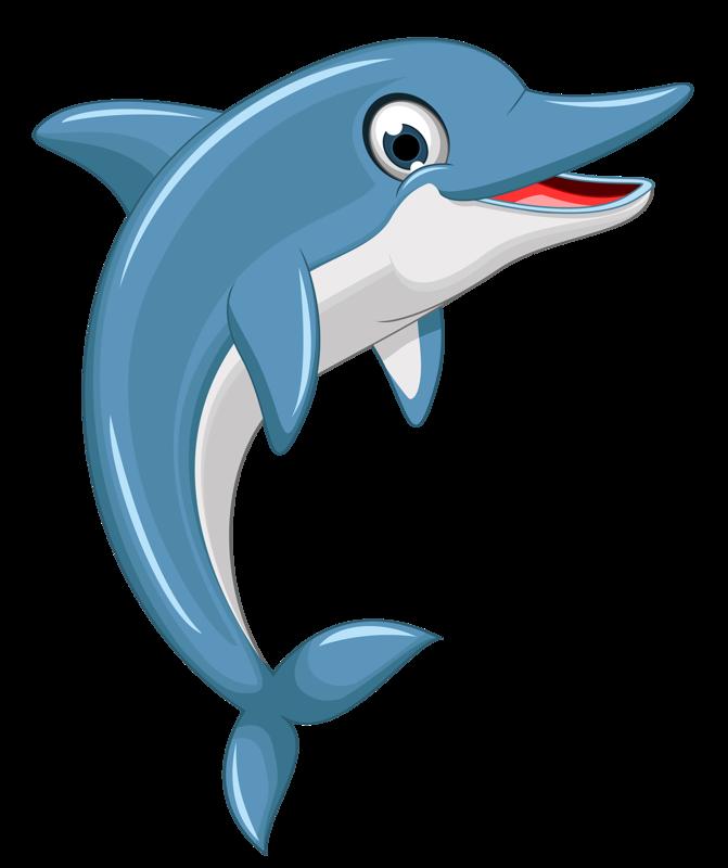 Дельфины мультяшные картинки