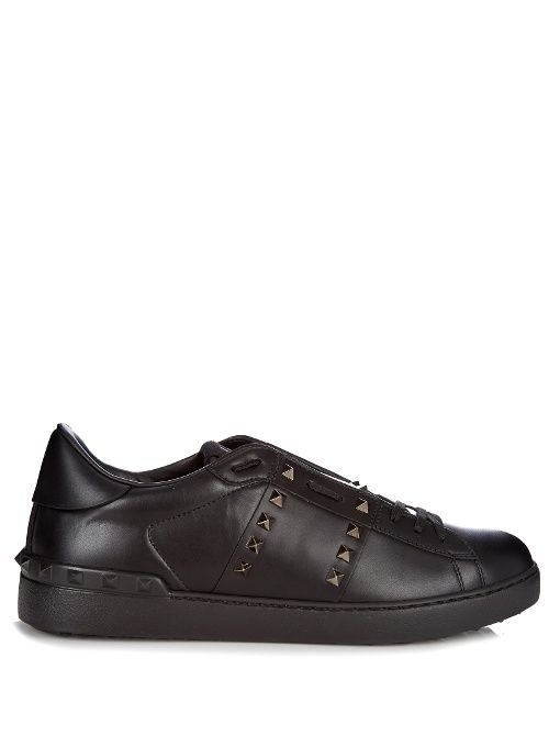 2f5848160a8b4 VALENTINO Rockstud Untitled #11 low-top leather trainers. #valentino #shoes  #sneakers