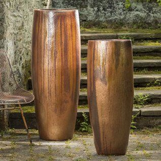 Extra Tall Indoor Outdoor Planter Copper Bronze Tall Planters Outdoor Planters Indoor Outdoor Planter