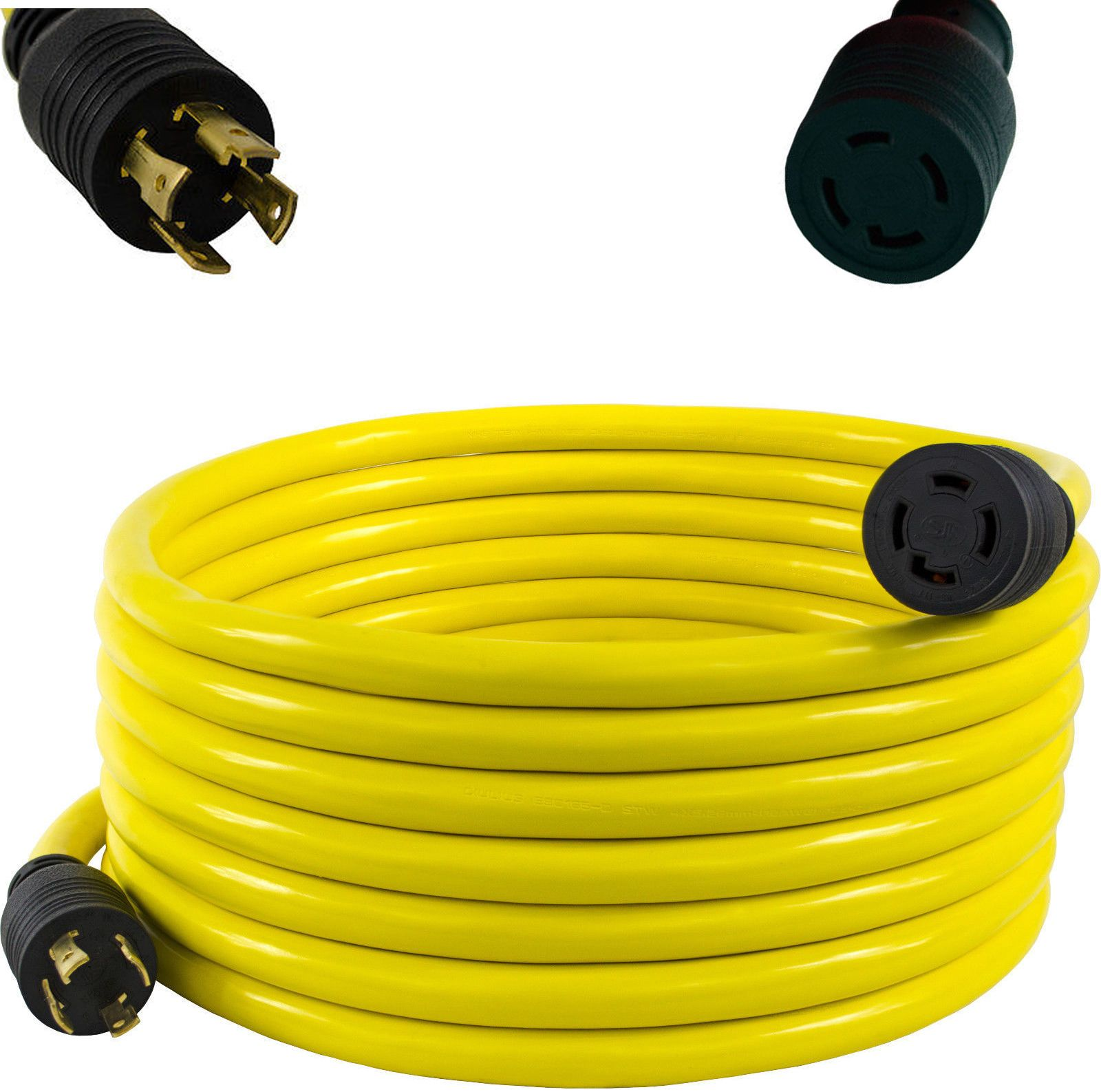 30 Amp 4 Wire Generator Cord | 30 Amp 40 Ft Nema L14 30 4 Wire 10 Gauge 125 250v Generator Power