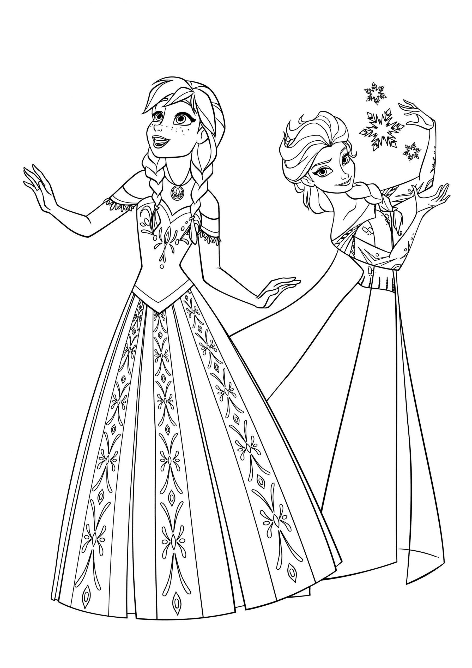 Elsa And Anna Coloring Elsa And Anna In 2020 Elsa Coloring Pages Frozen Coloring Pages Frozen Coloring