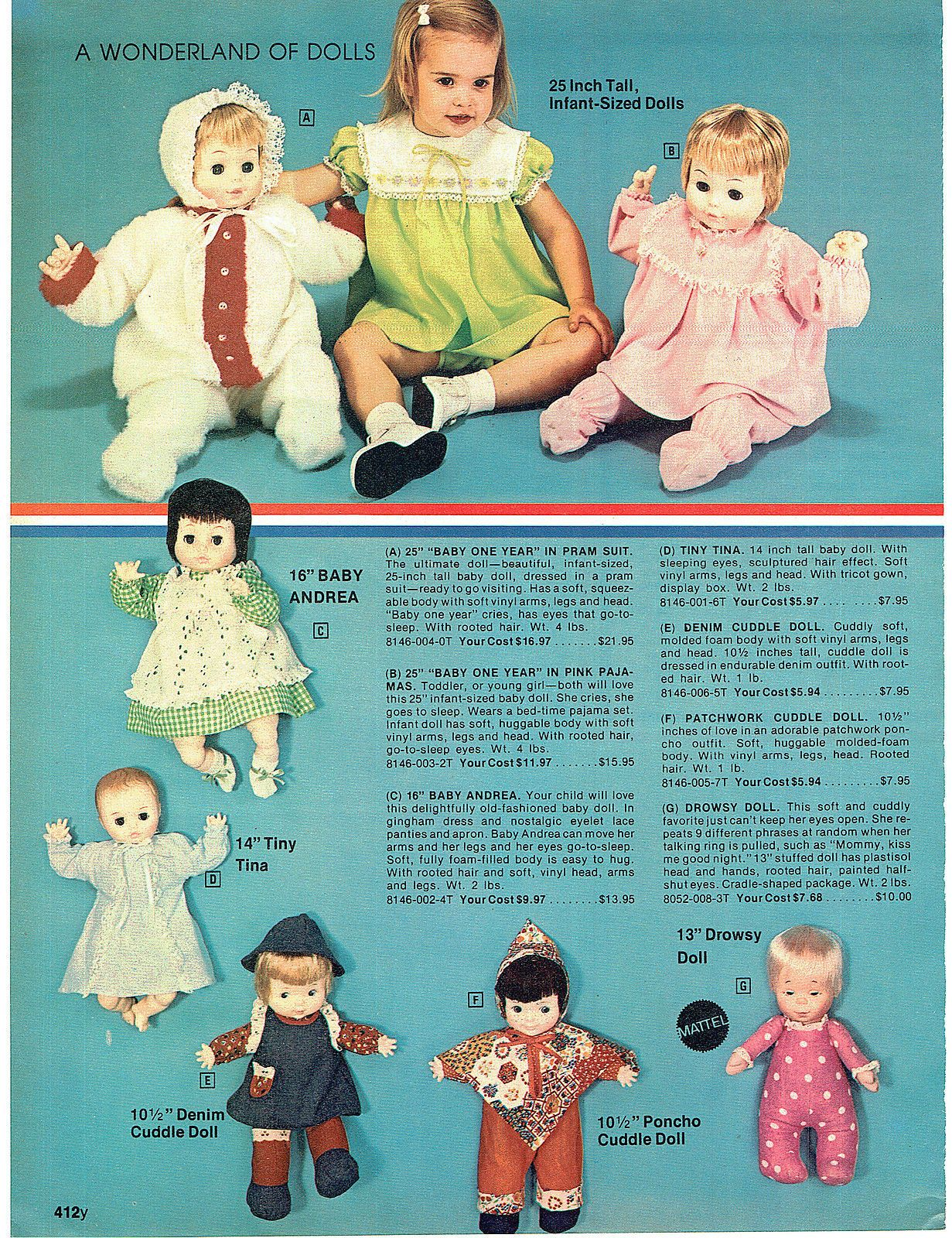 1976 Advert Barbie Doll Townhouse 10 Speed Bicycle Nina Ballerina Baby Alive   eBay