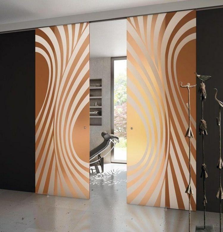Innentüren Glas mattiert mit Kreismotiven coole innentüren - glas mobel ideen fur ihr modernes interieur von vitrealspecchi