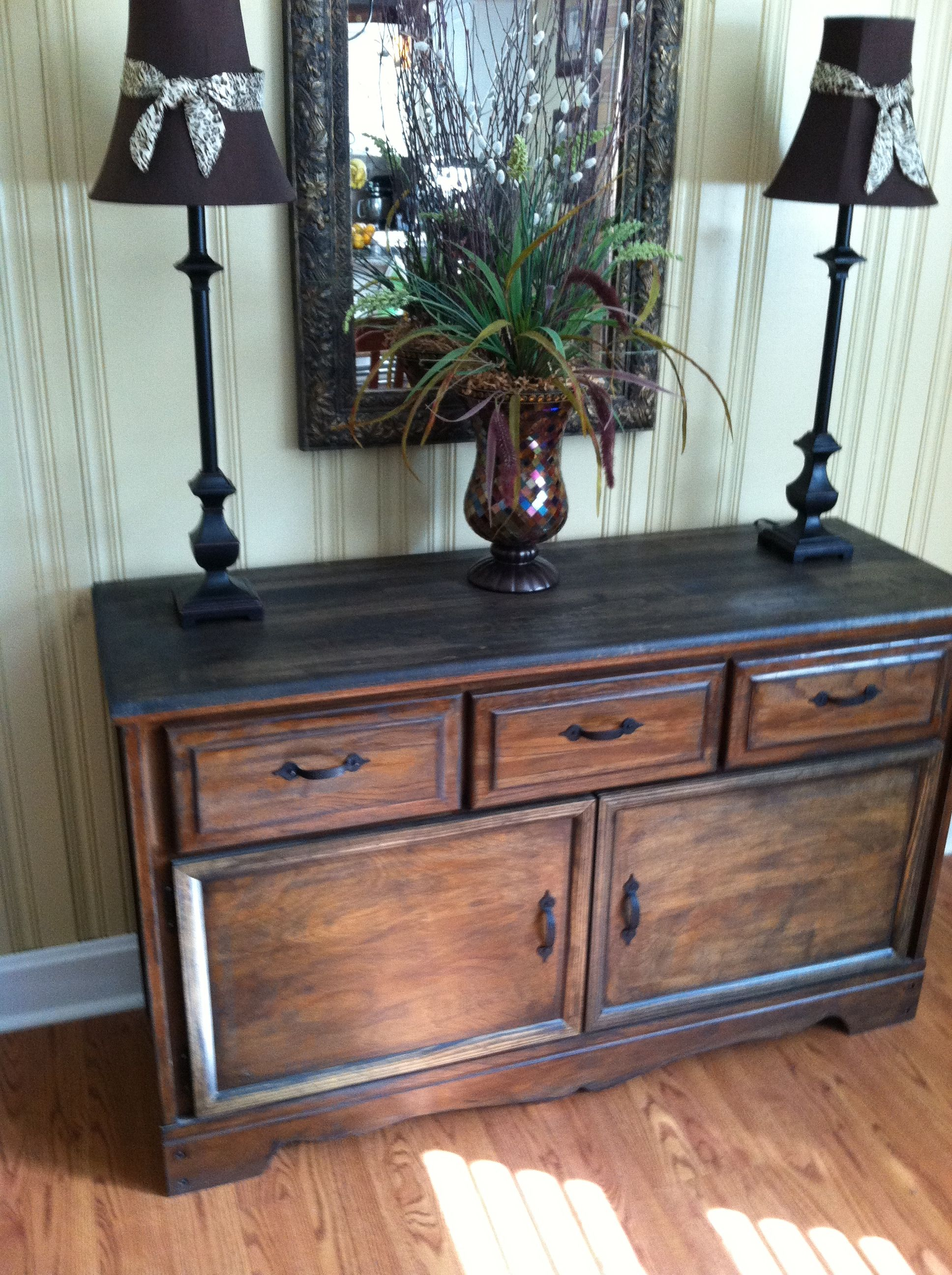 Old Refurbished Dresser Turned Buffet Table 35 Goodwill