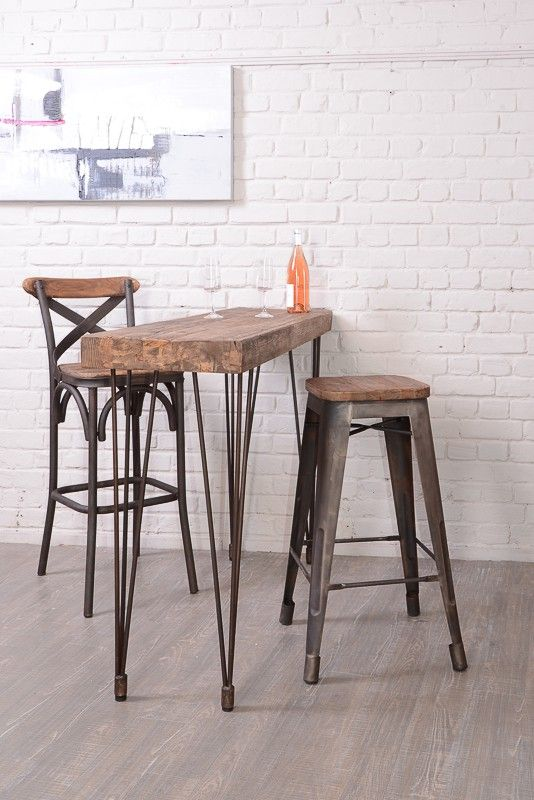 Table Console En Pin Massif Nola Chaise Bar Table Haute