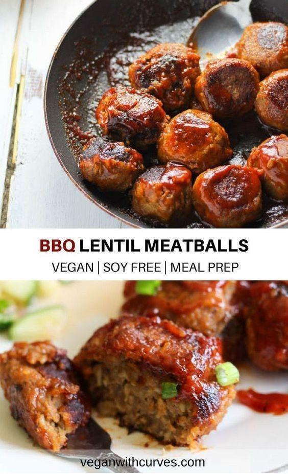 BBQ Lentil Meatballs #vegetariandish
