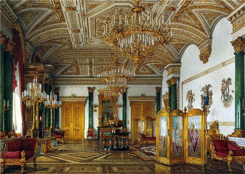 Buckingham palace queen bedroom and palaces on pinterest - Ornate Opulent Russian Palace 18th Century Highly