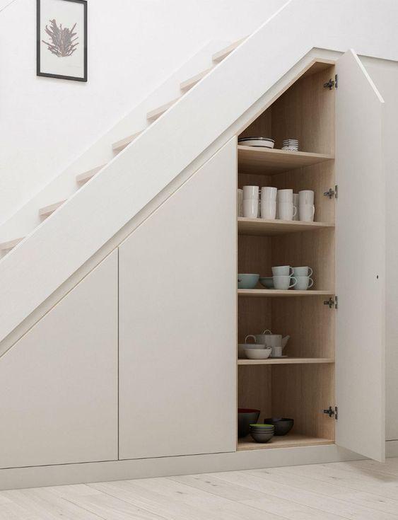 31 Living Room Under Stairs Storage Ideas