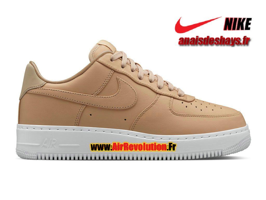 timeless design cb3c8 b06a3 Boutique Officiel NikeLab Air Force 1 Low (GS) Femme Enfant Brun  vachette Blanc Brun vachette 555106-200G