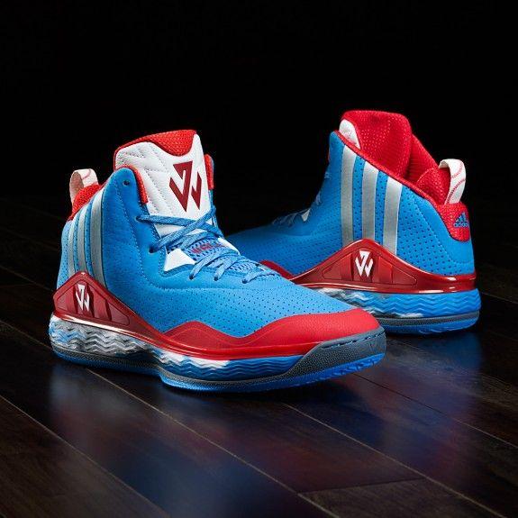 adidas performance j wall herren basketball-schuhe blau