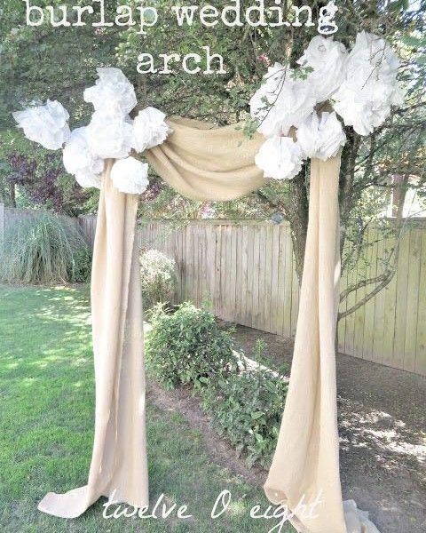 Diy Rustic Wedding Arch: Elegant And Rustic Burlap Wedding Arch
