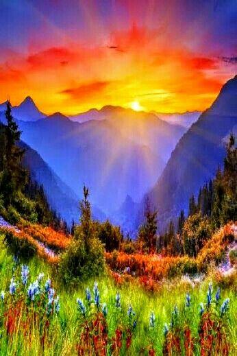 Beautiful Mountain Sunrise Beautiful Nature Nature Photography Beautiful Sunrise