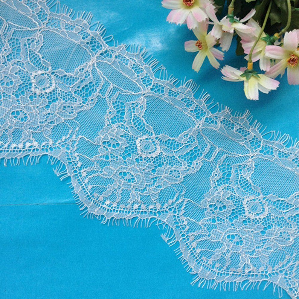 3 Yards 5-1/2' Wide Eyelash Polyester Embroidery Lace Trim
