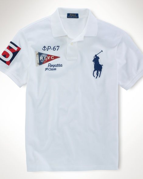 Custom Fit Nautical Polo Polo Shirt Design Mens Polo T Shirts Polo Shirt Outfits