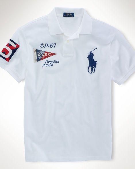 Custom Fit Nautical Polo Polo Shirt Design Mens Polo T Shirts Polo Shirt Outfits