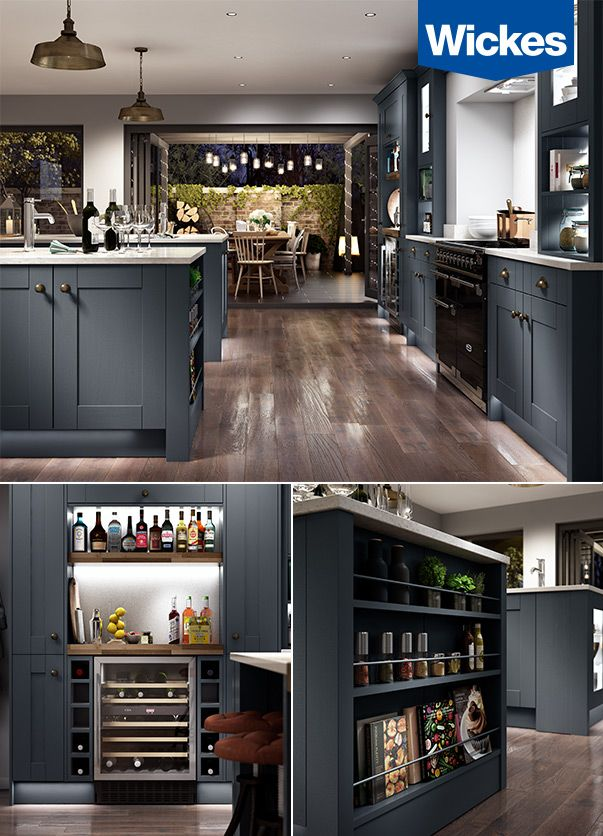 A DREAM KITCHEN FOR ENTERTAINING. The deep charcoal kitchen from ...