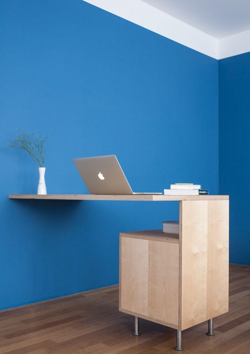 Schreibtisch aus birke multiplex eigene bilder in 2019 for Schreibtisch birke
