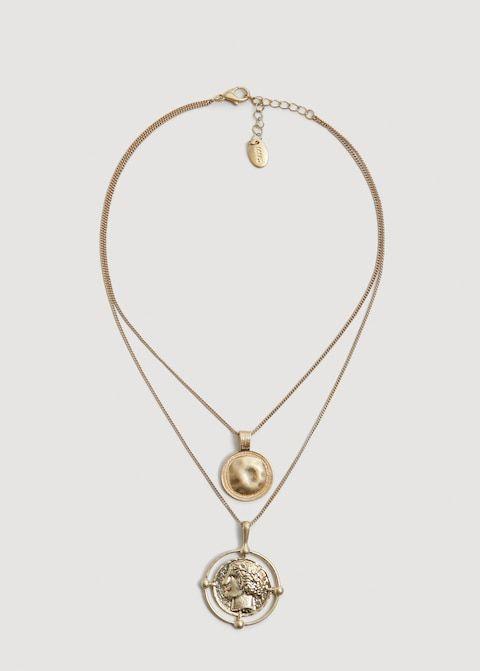 ba03e324fe93 Collar colgante moneda - Mujer