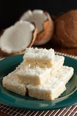 COCONUT SUGAR COOKIE SQUARES...anything with coconut milk is heaven!