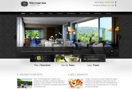 Website Templates Free 20 Free And Premium Html Hotel Website Templates  Web Design