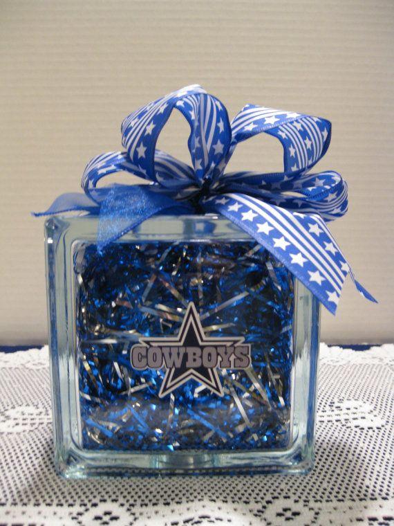 Dallas Cowboy Fans glass block by Originalsbysuej on Etsy