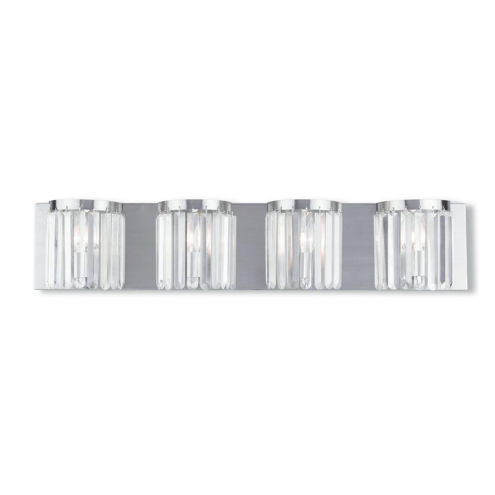Photo of Livex Lighting Ashton Brushed Nickel 4-light Bath Vanity – Brushed nickel (Brushed Nickel)