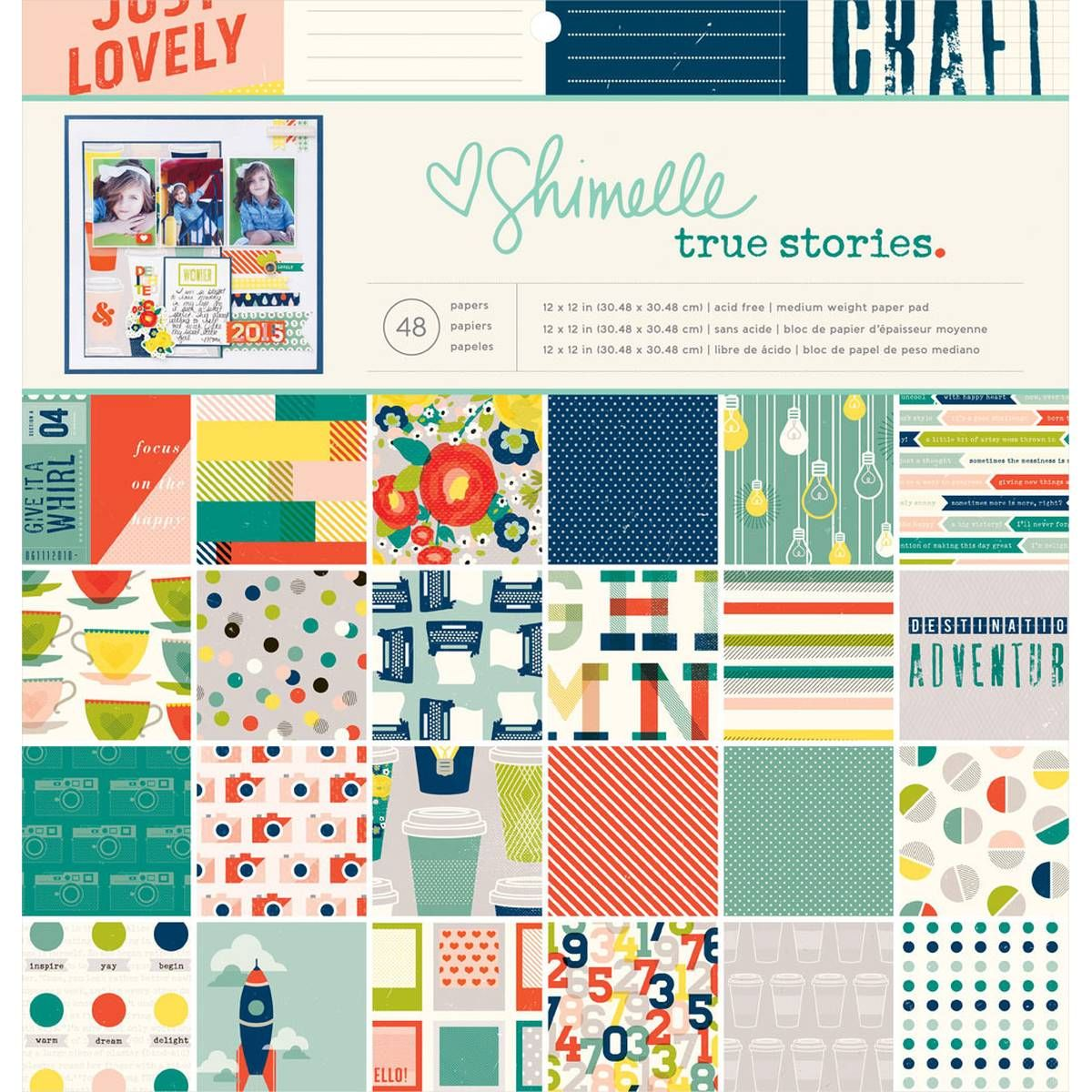 Shimelle True Stories 12 X 12 Inch Paper Pack 48 Sheets | Hobbycraft