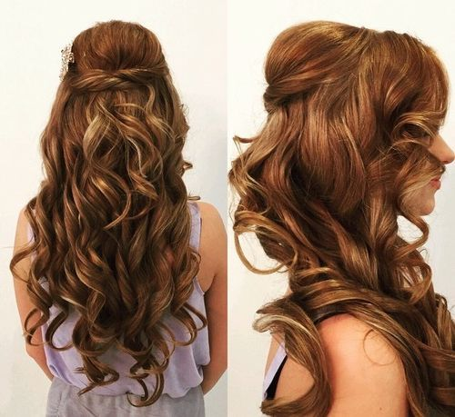 50 Half Updos For Your Perfect Everyday And Party Looks Long Hair Styles Half Updo Half Updo Hairstyles