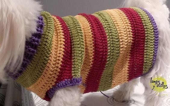 Crochet dog sweater free pattern with video tutorial | crochet 4 ...