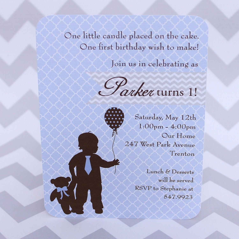 1st Birthday Invitation Baby Boy Teddy Bear by babycakesart, $20.00 ...