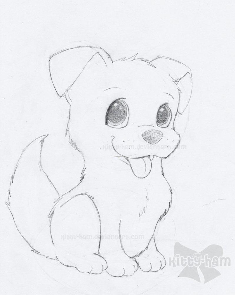Puppy Sketch By Kitty Ham On Deviantart Dog Drawing Simple Art Drawings Simple Puppy Drawing Easy