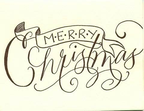 image result for merry christmas calligraphy