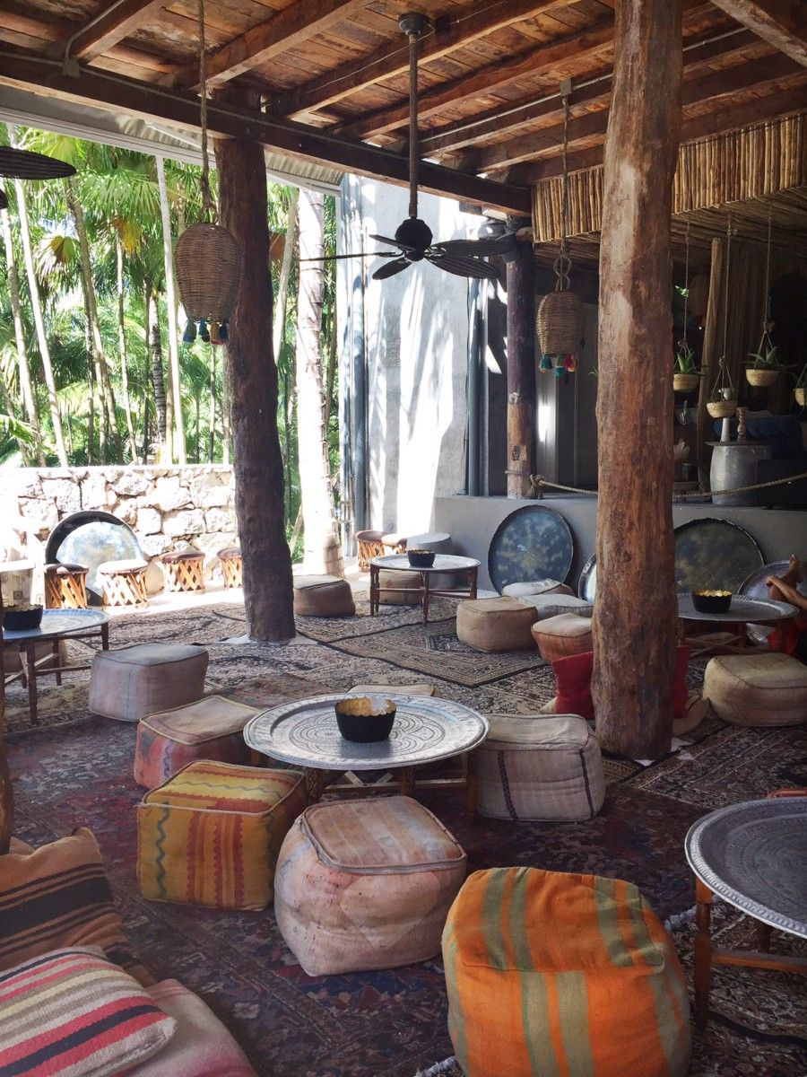 Nomade Tulum - Moroccan inspired lounge. Interior inspiration. Tulum Travel Diary on LittleMissNottingHill.com - What To Do in Tulum's Jungle