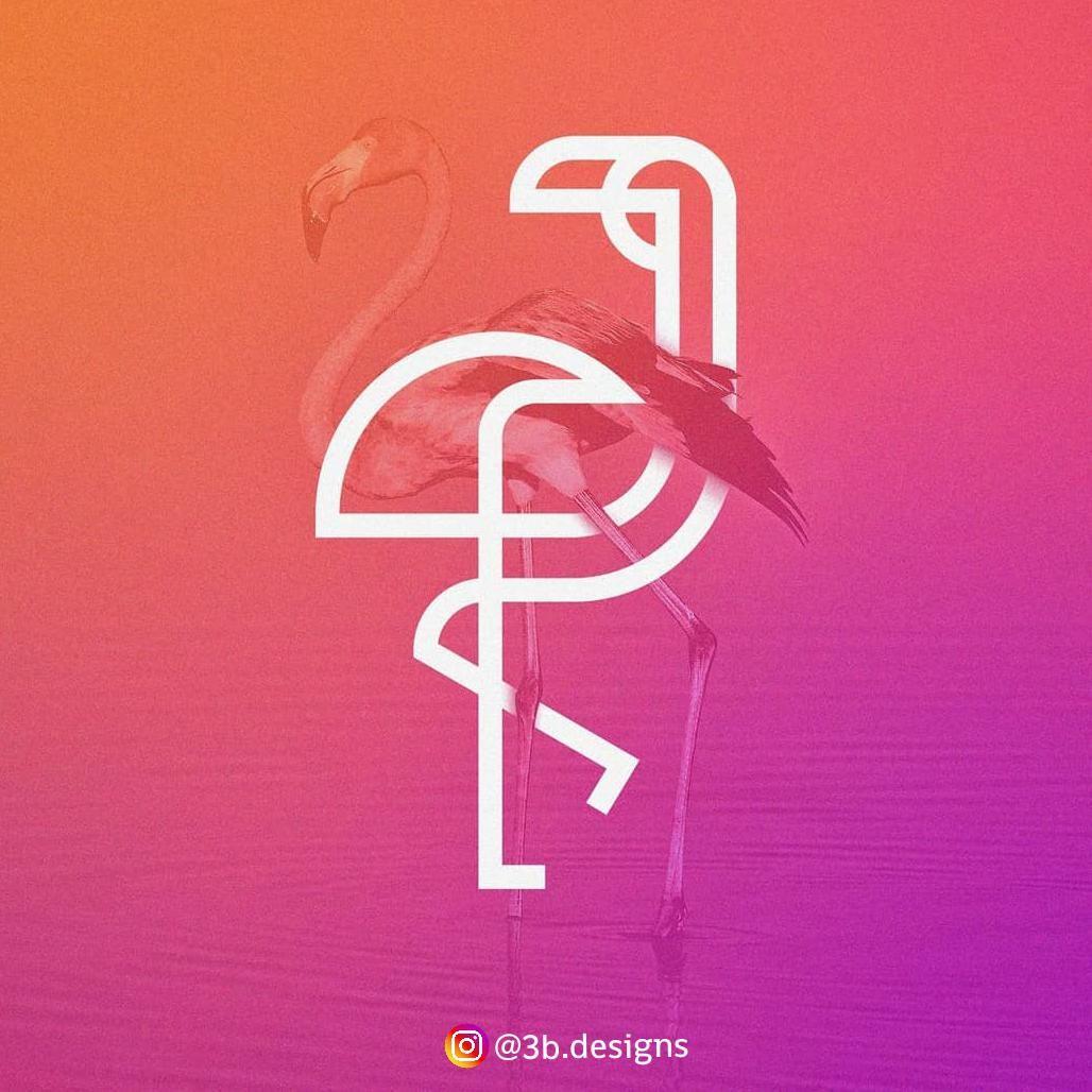 Flamingo Line Logo Concept ⚡ logodesign Logo concept